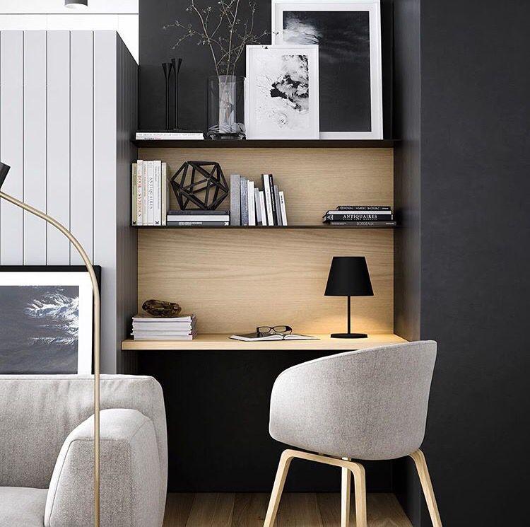 espace bureau dans salon