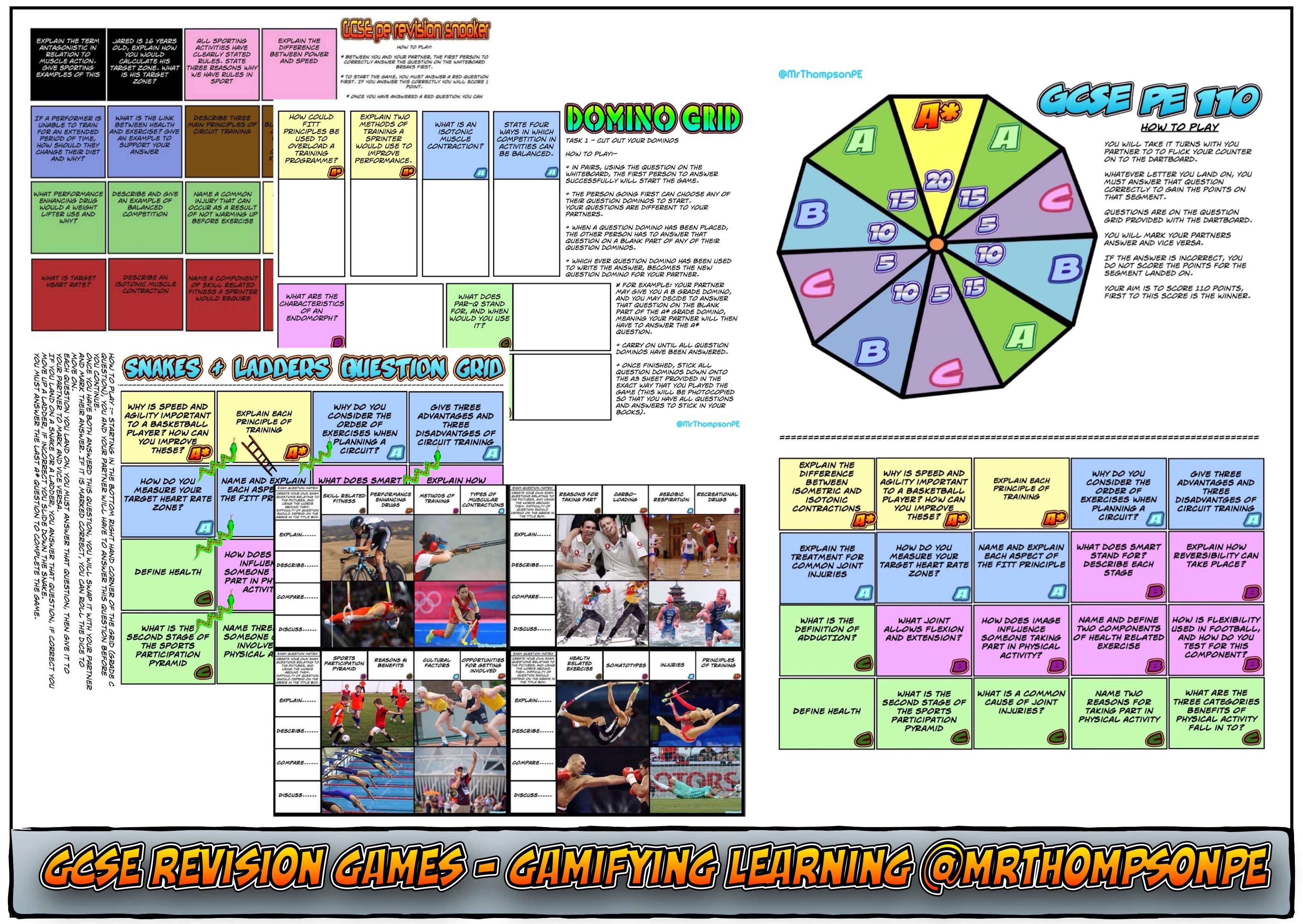 Gcse Pe Revision Games And Resources