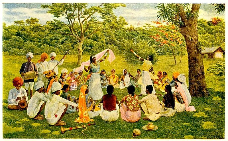 East Indian Coolies in Trinidad, 19th century. Indian