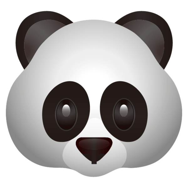 High resolution Panda Face Emoji. An adorable black and