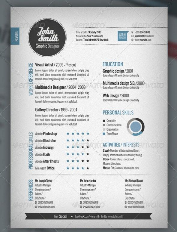 resume templates and first page on pinterest