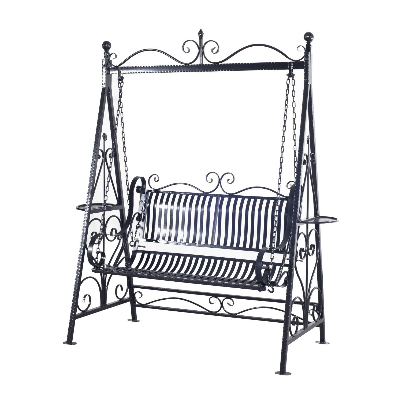 Outsunny Garden Metal Swing Chair Outdoor Patio Hammock