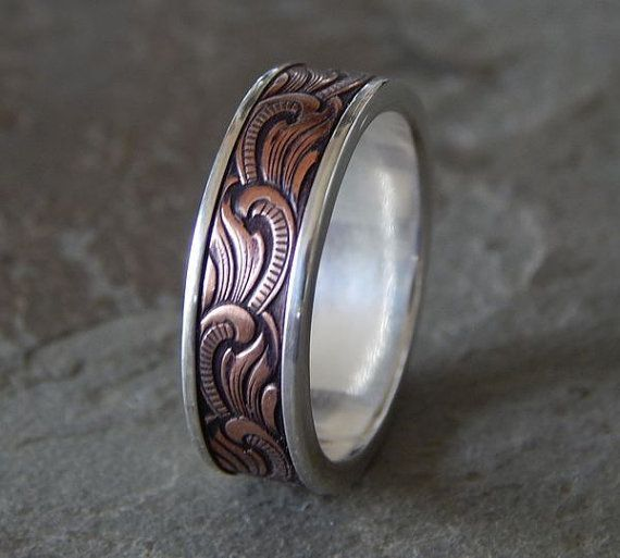 Best 25 Unique Mens Wedding Bands Ideas On Pinterest