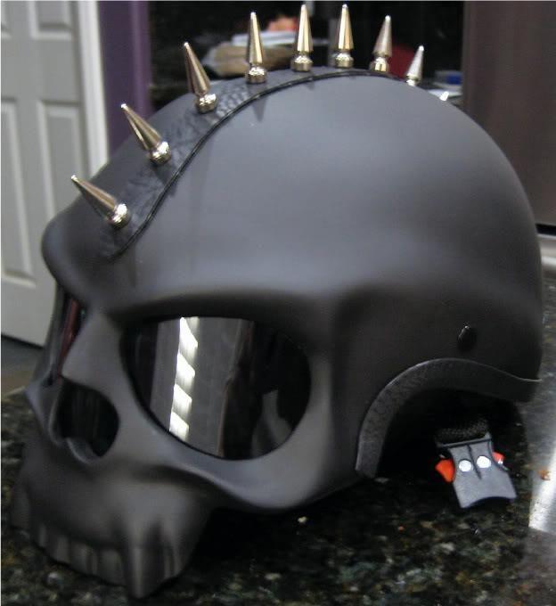 Details About Black Skull Novelty Motorcycle Biker Half Helmet Shorty Helmets