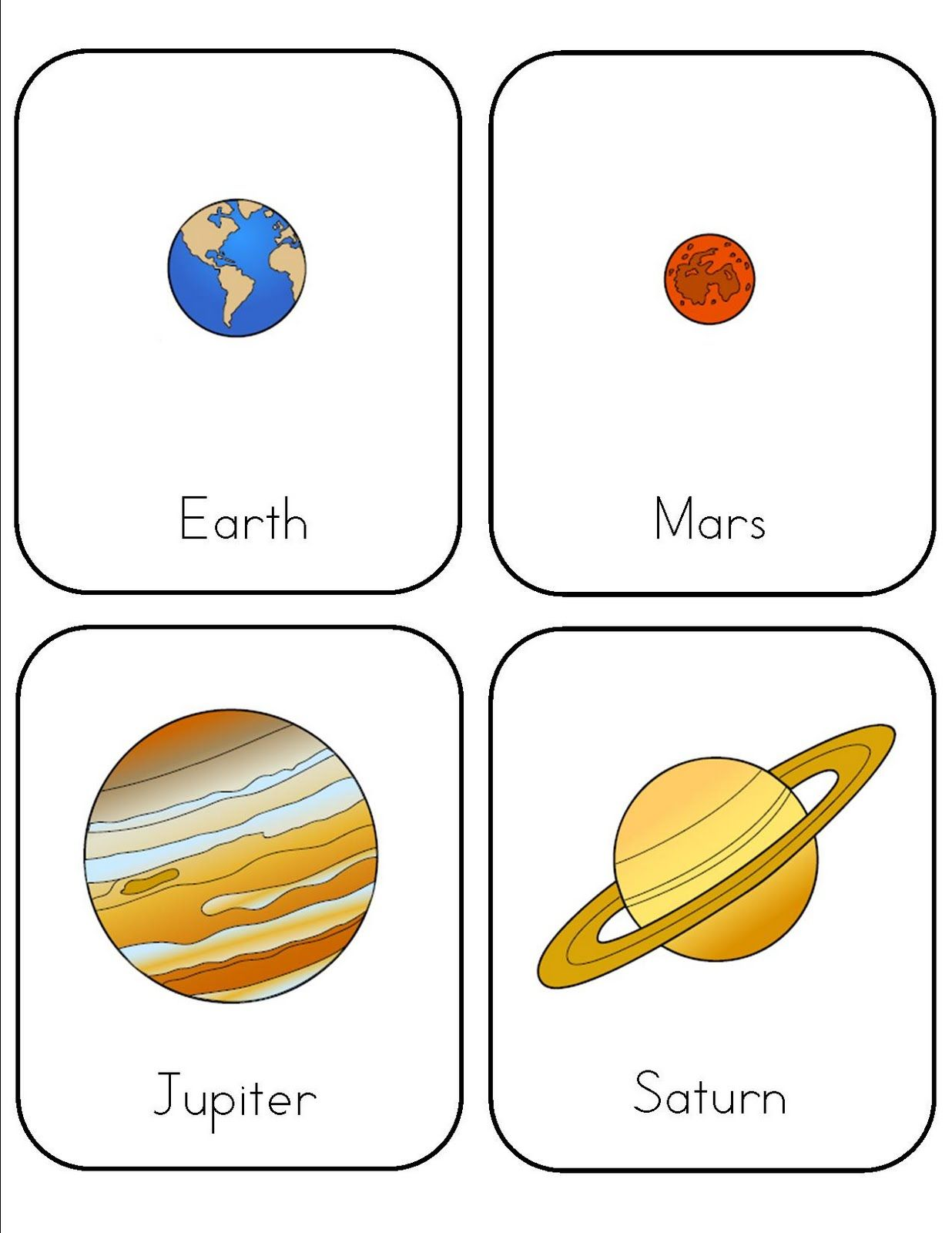 Preschool Space Lesson With Free Printables From Mrs Home Ec