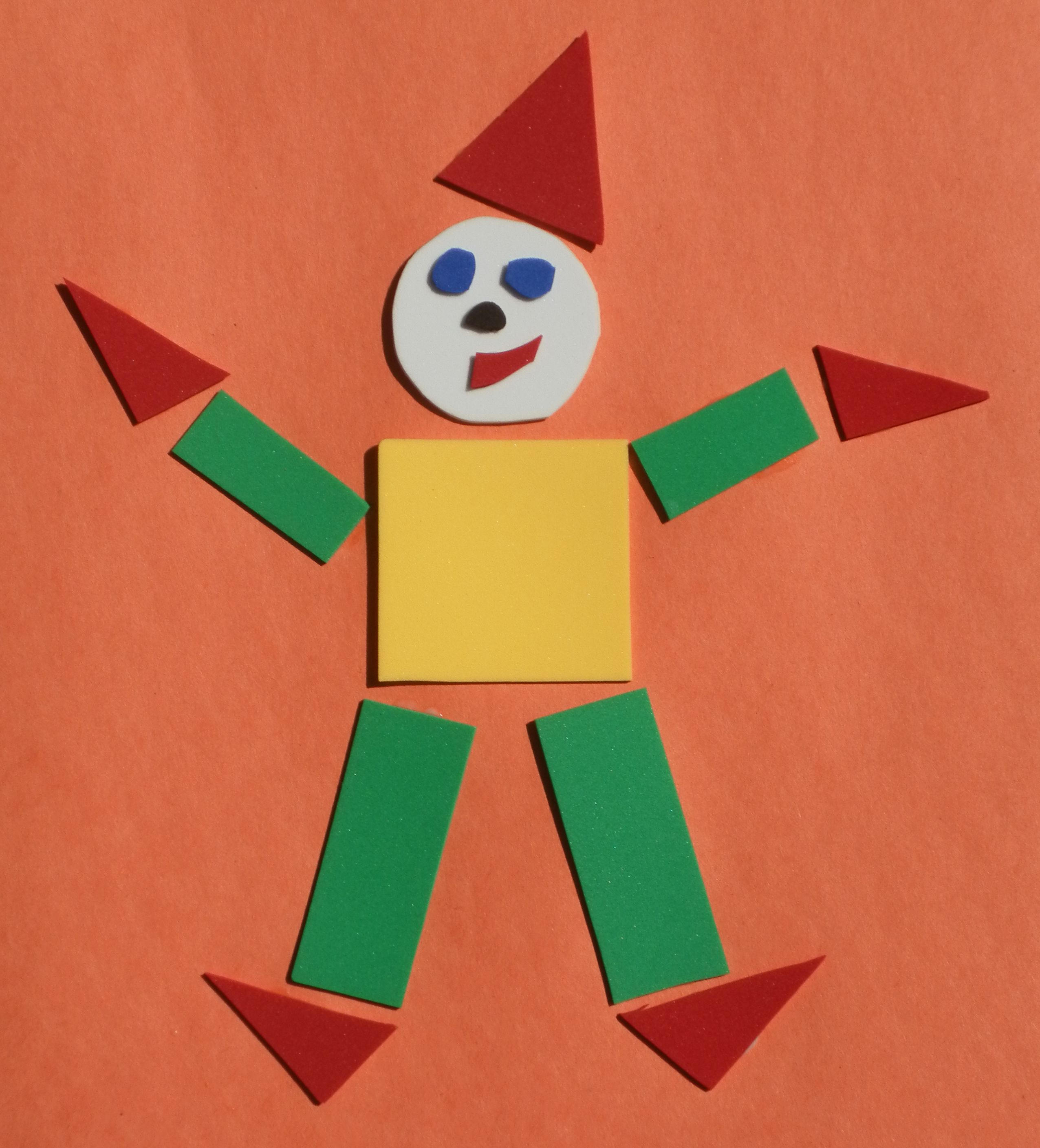 Happy Clowns Great Way To Teach Body Parts And Shapes