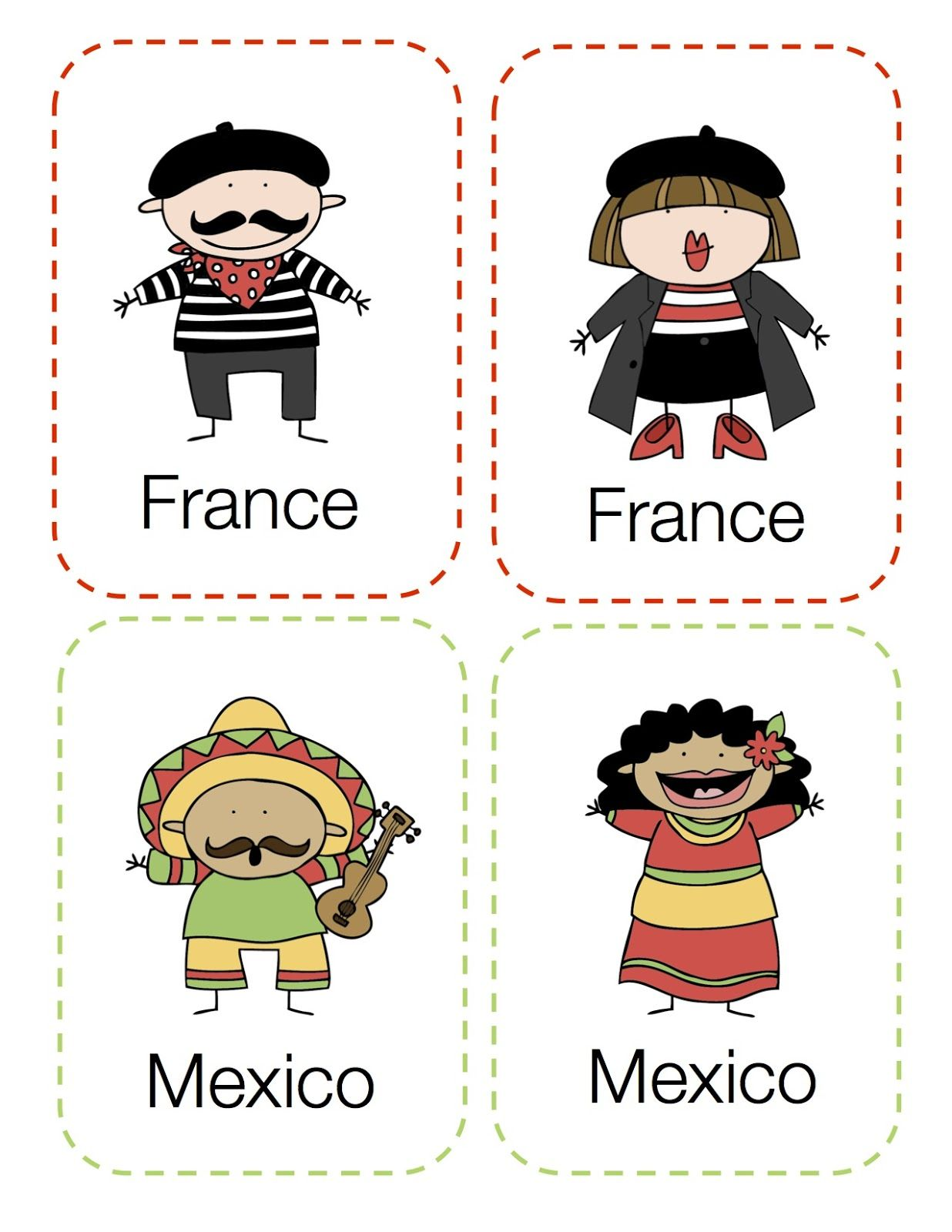 Preschool Printables Around The World Kids