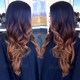 Caramel ombre highlights on black hair the best black hair 2017 25 trending brown ombre hair ideas on black urmus Image collections