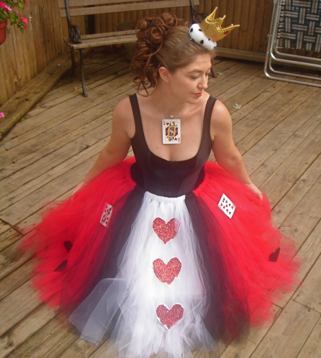 Queen of Hearts Adult Boutique Tutu Skirt Costume Skirts