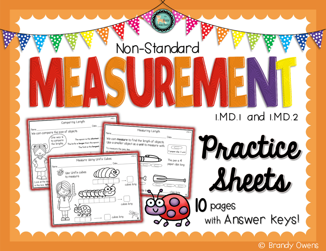 An Introduction To Non Standard Measurement Covers Comparing Length Ordering Length And
