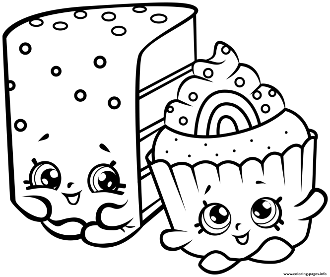 Cute Kins Cakes Coloring Pages Printable And Book To Print For Free Find More Online Kids S Of