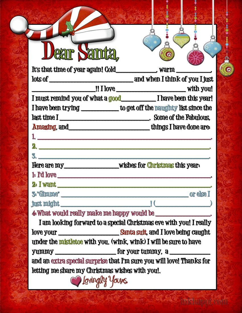 A letter to Santa... for Adults! (wink, wink Search