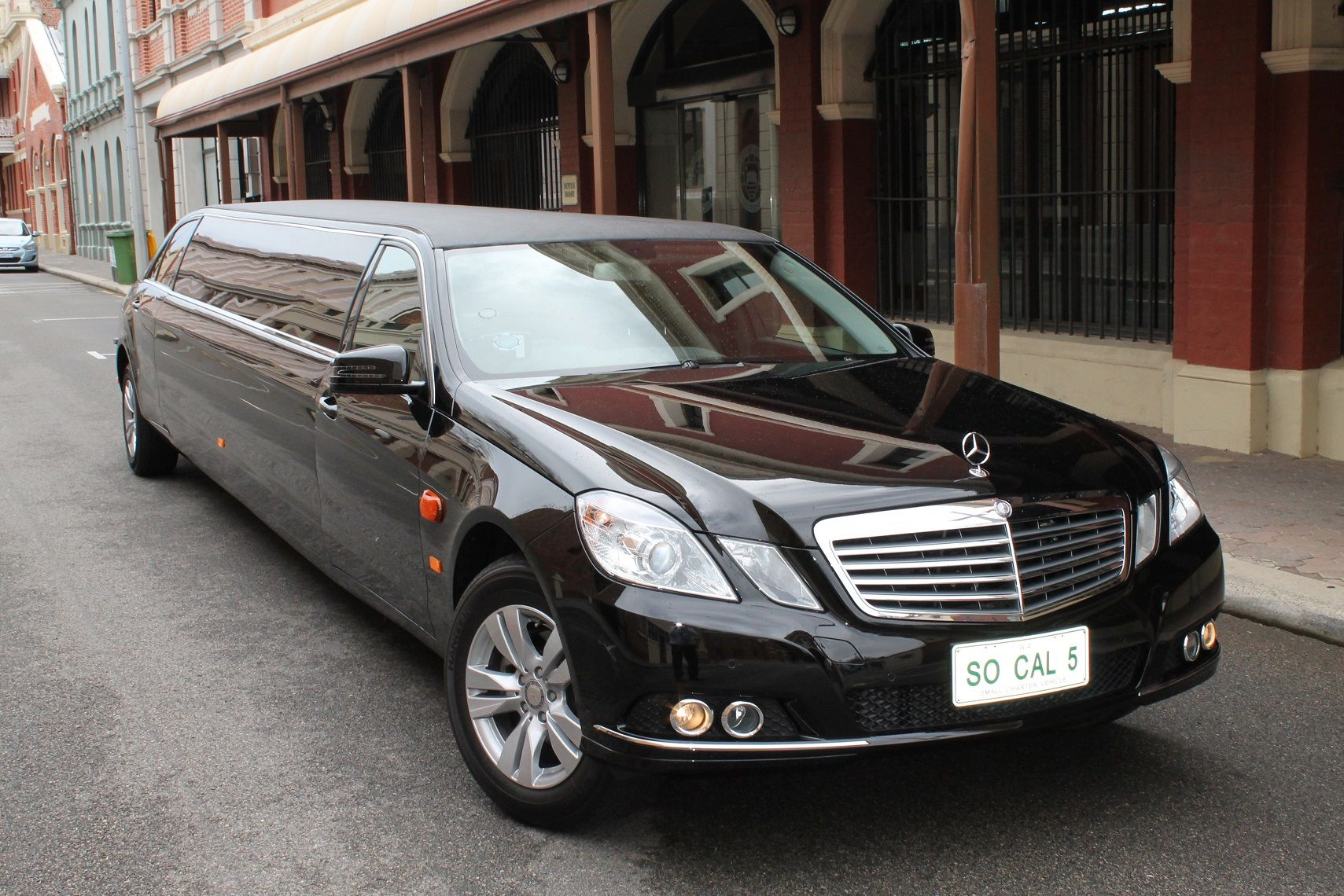 So Cal Limos has added a brand new black Mercedes Benz E Class