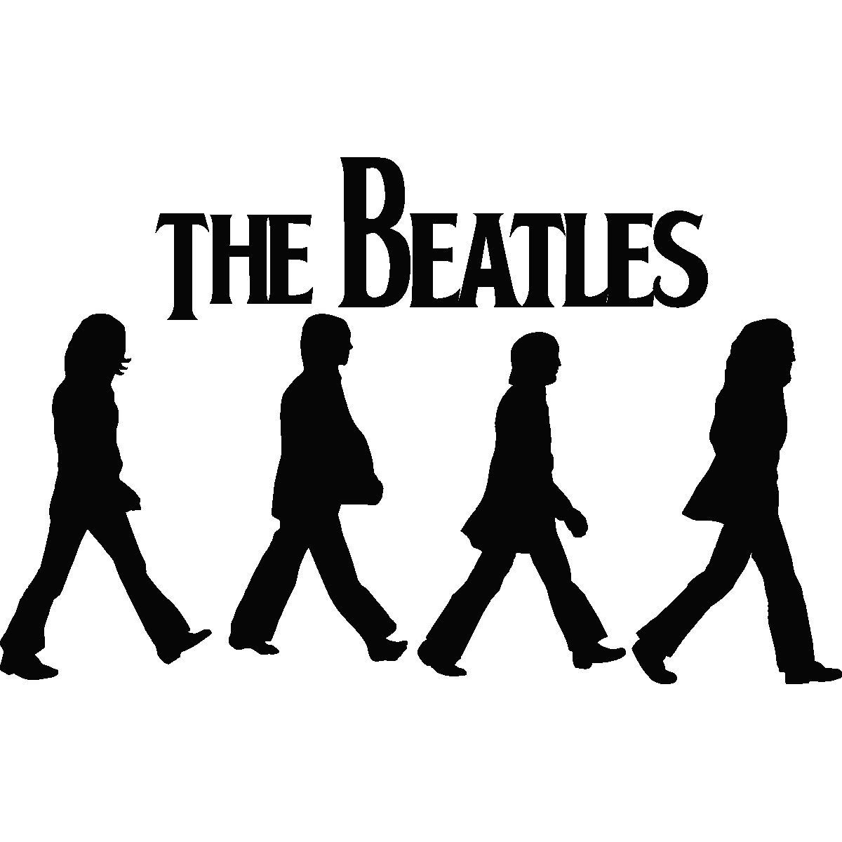 Images For Gt Beatles Silhouette Abbey Road