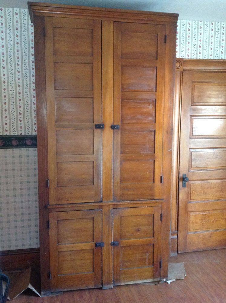 Antique Vintage 1880's 8 ft Tall Pantry Cupboard w