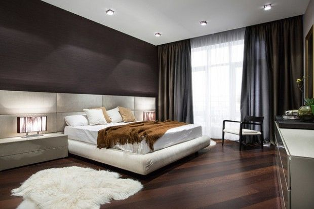 Modern Master Bedroom Design Ideas With Small Carpet Brown Blankets And Smart Lighting