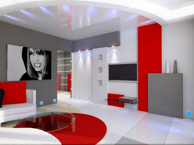Ides Pour Combiner Blanc Et Rouge Dans Le Salon