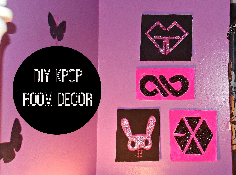 DIY KPOP Room Decor Wall Art kpop crafts and ideas