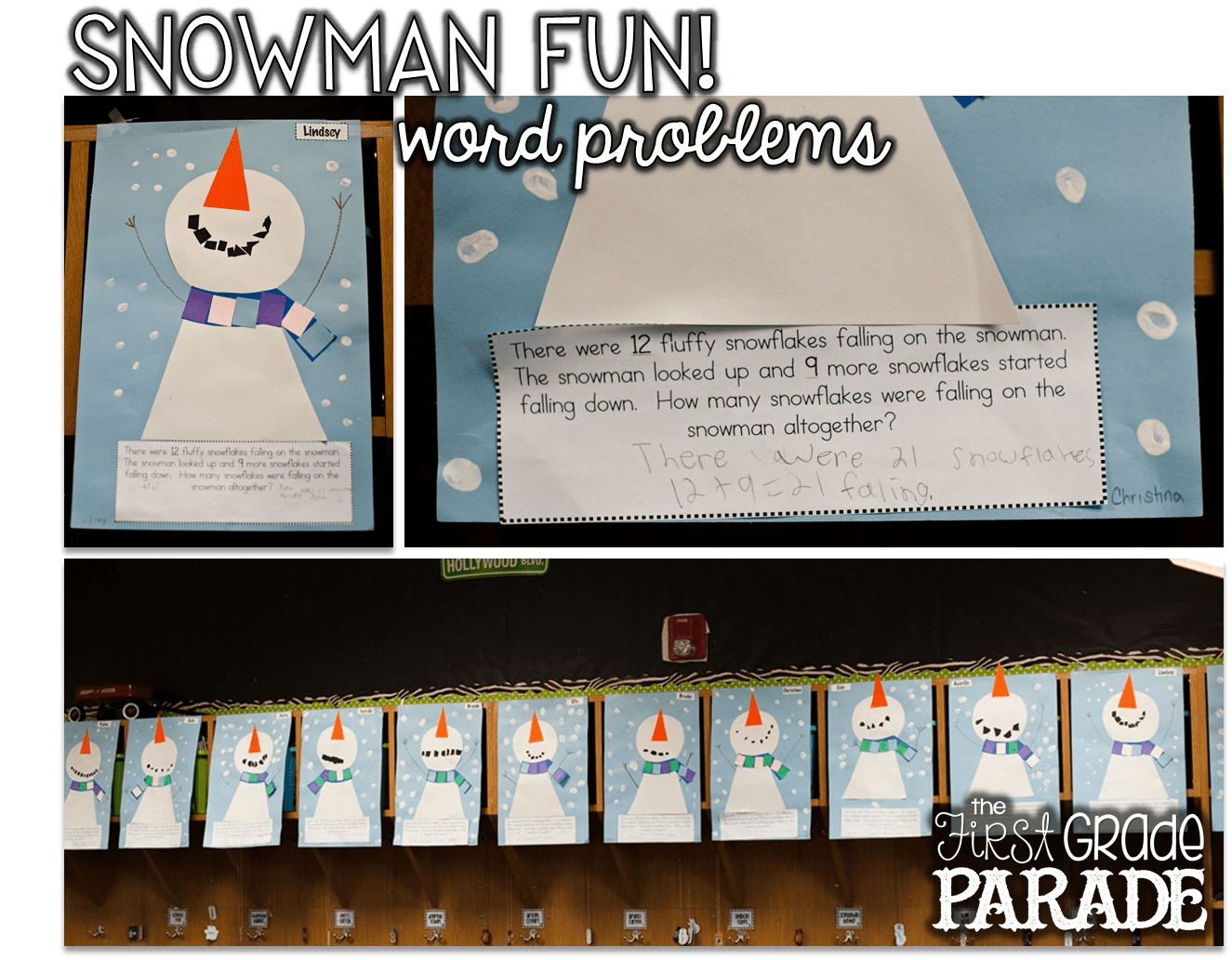 Snowman Fun Freebies And A Place Value Sneak Peek Use For Word Problem Activities For Alt