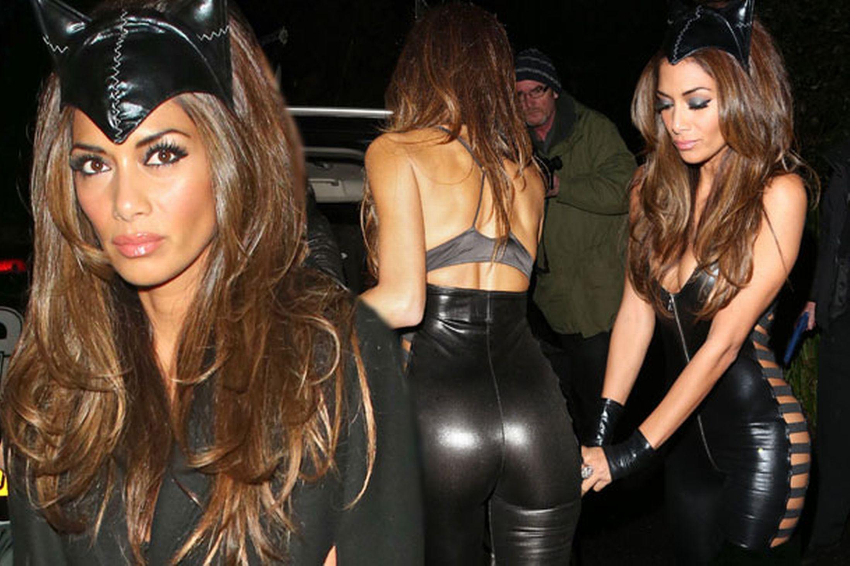 Nicole Scherzinger Stuns Iny Leather Catwoman Costume