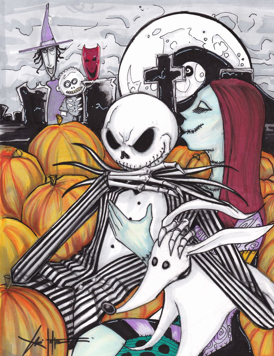 Jack Skellington Sally color by ChrisOzFulton.deviantart