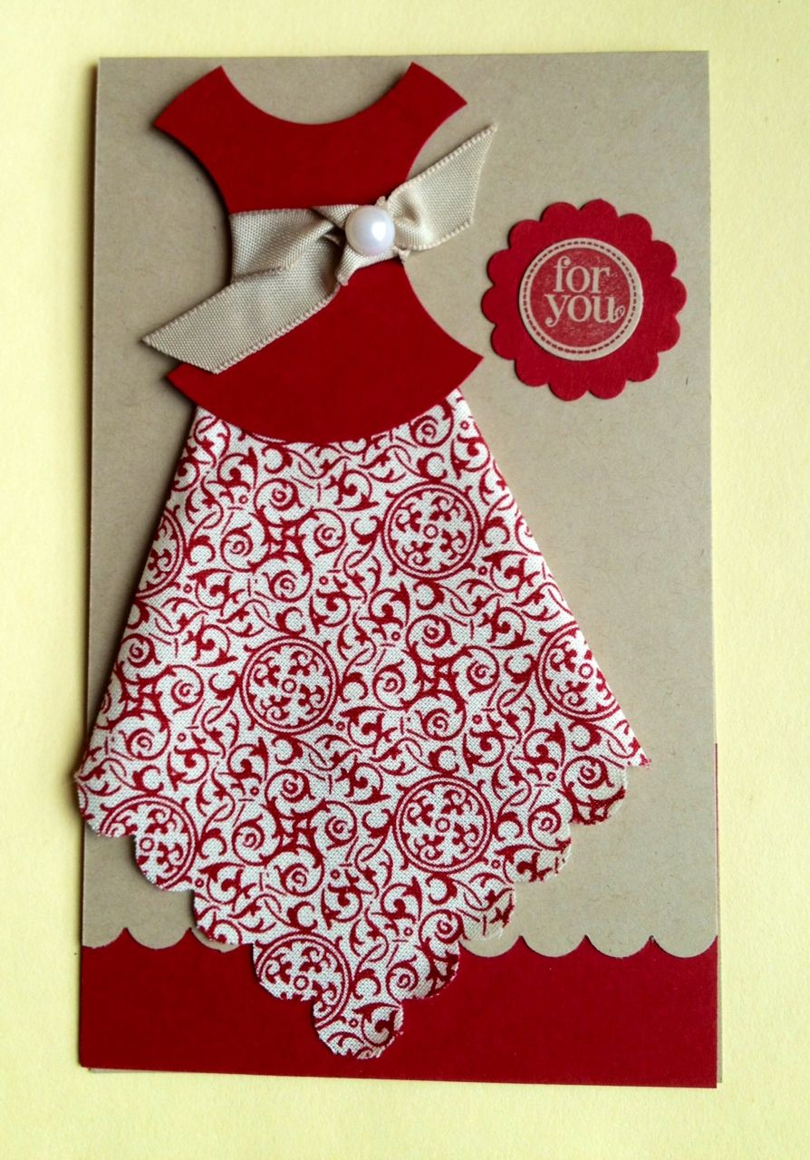 dress template for card making The Flying Stamper
