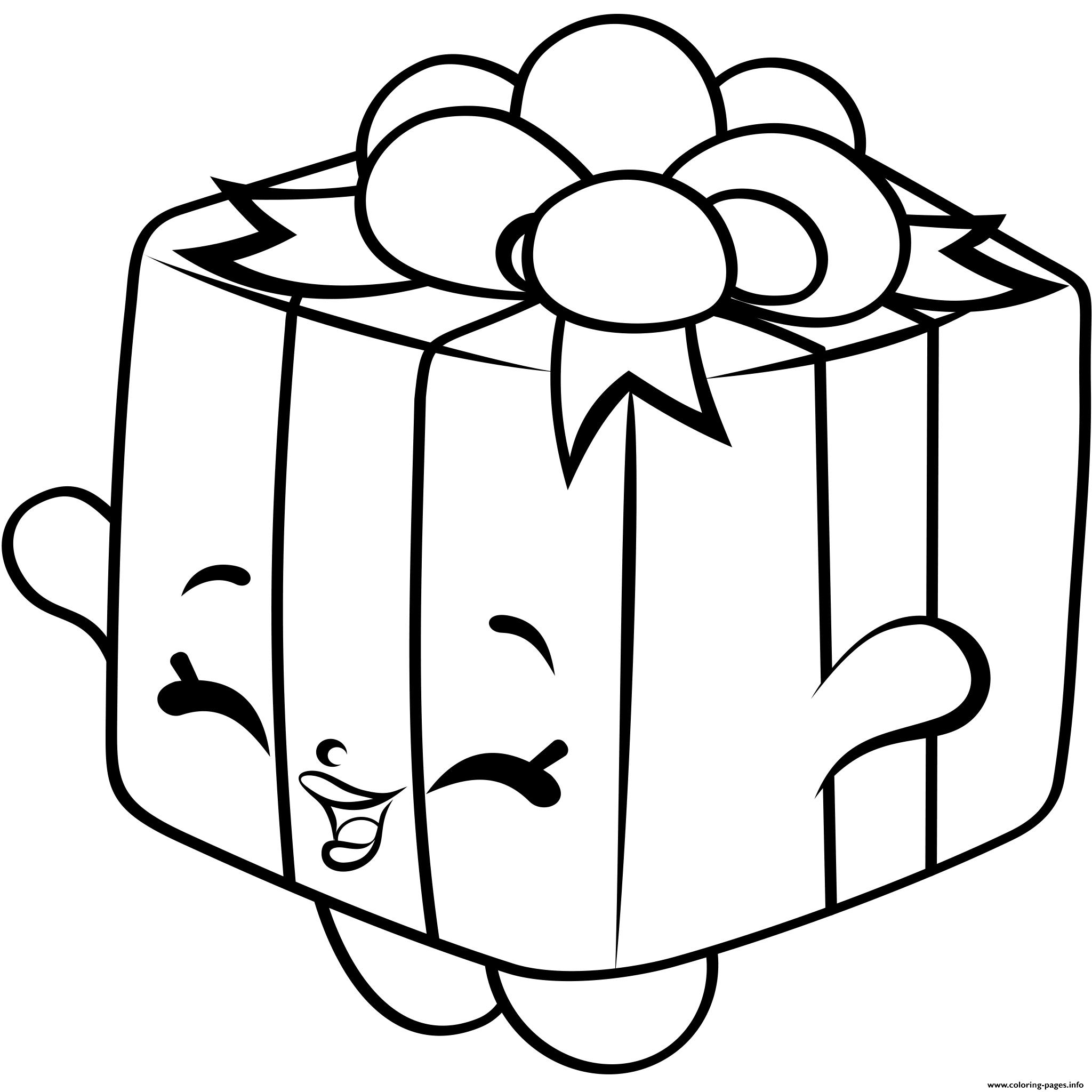 Print Gift Box Shopkins Season 4 Coloring Pages Kids