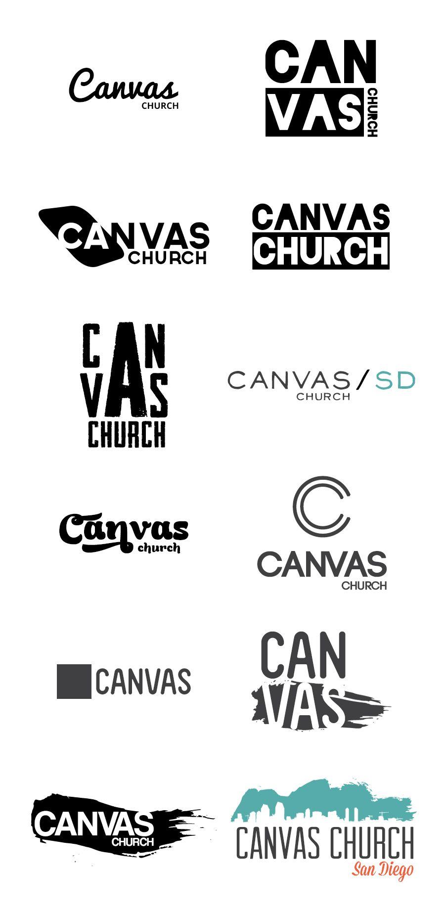 Canvas Church logo ideas by