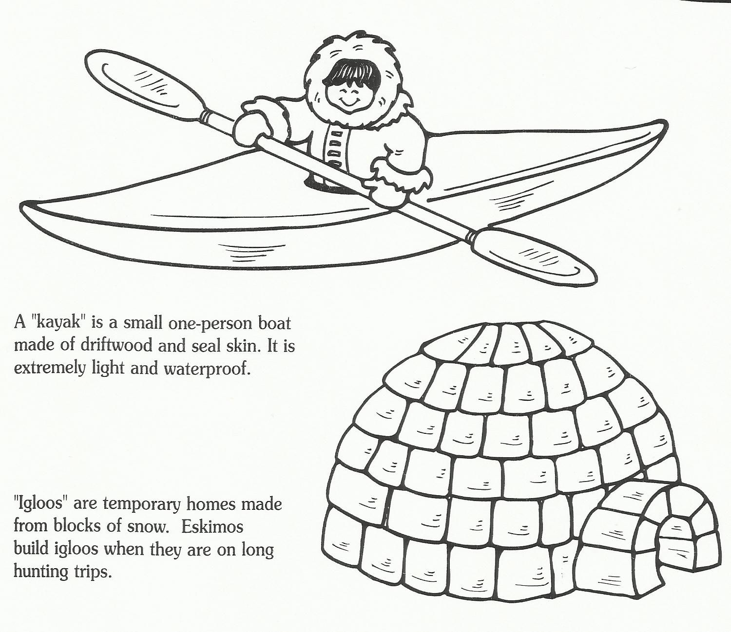 igloo coloring pages teachers - photo#41