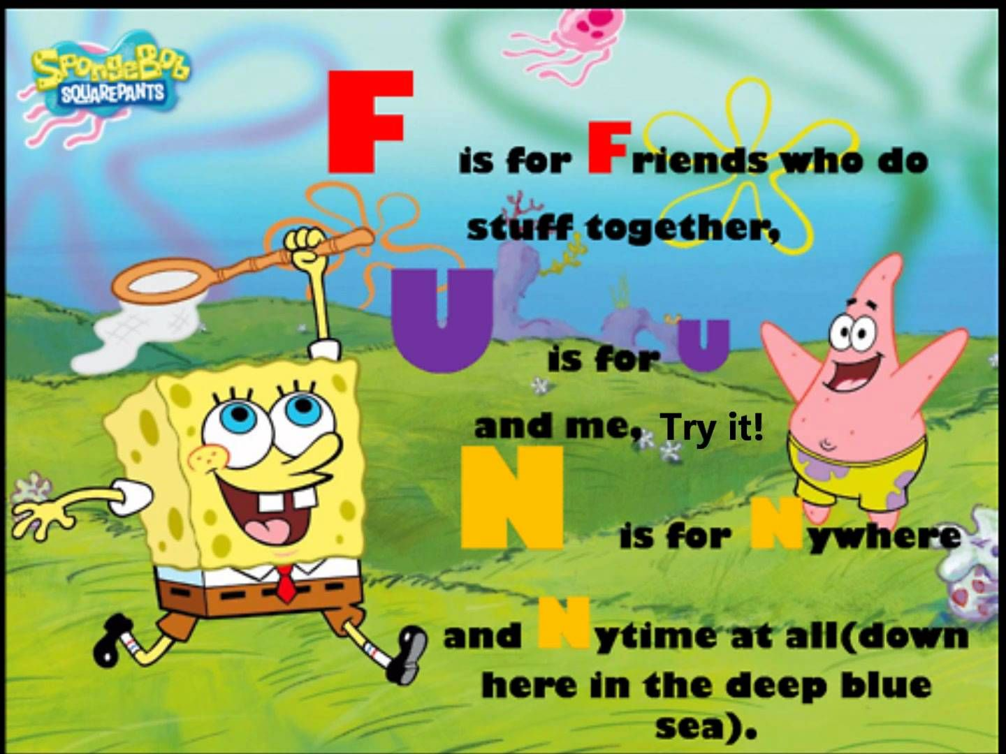 Spongebob ft. Plankton F.U.N Song Lyrics Spongebob