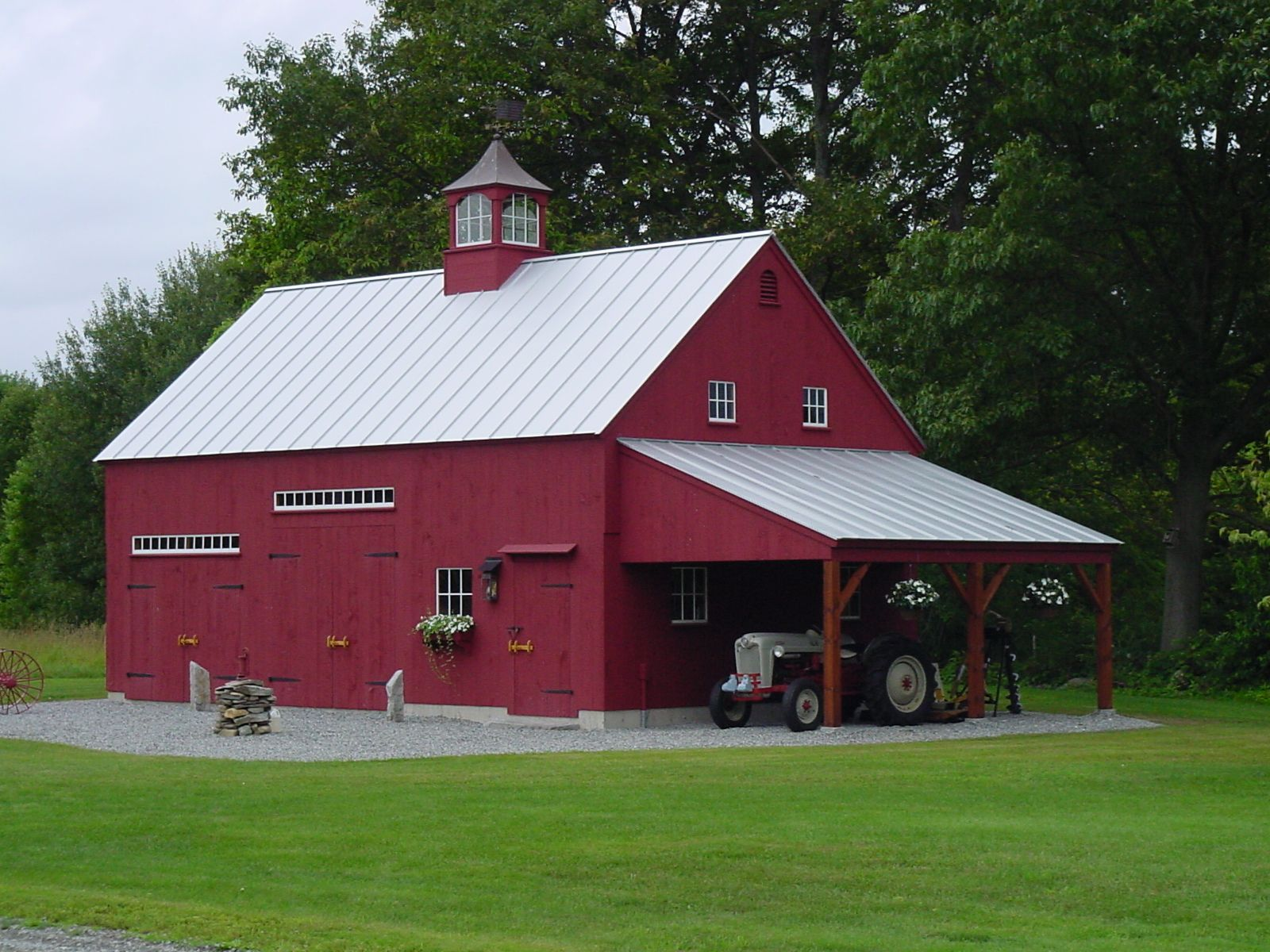 Our 11/2 Story Barn 22'x 36' with 12'x 20' open leanto
