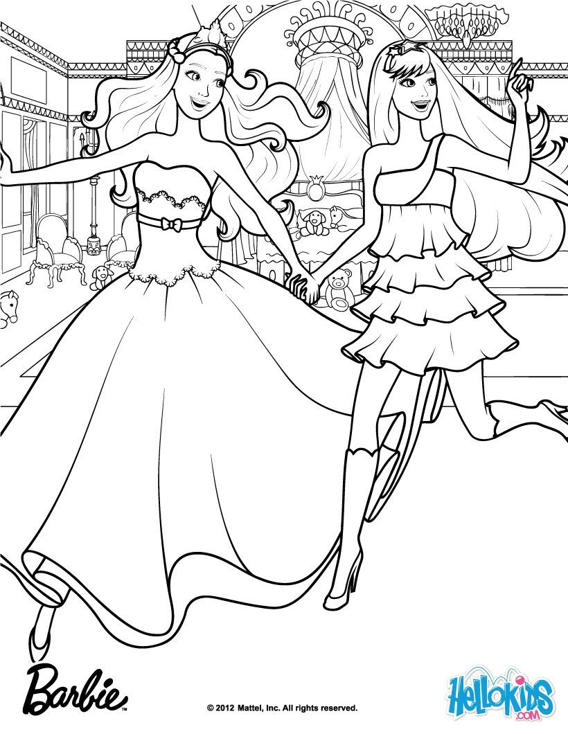 Keira Tori When They First Met Barbie Coloring Page More