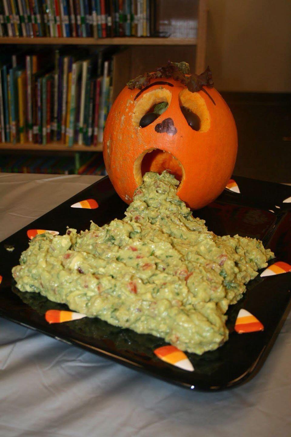 JackOLantern throw up. Halloween party Pinterest