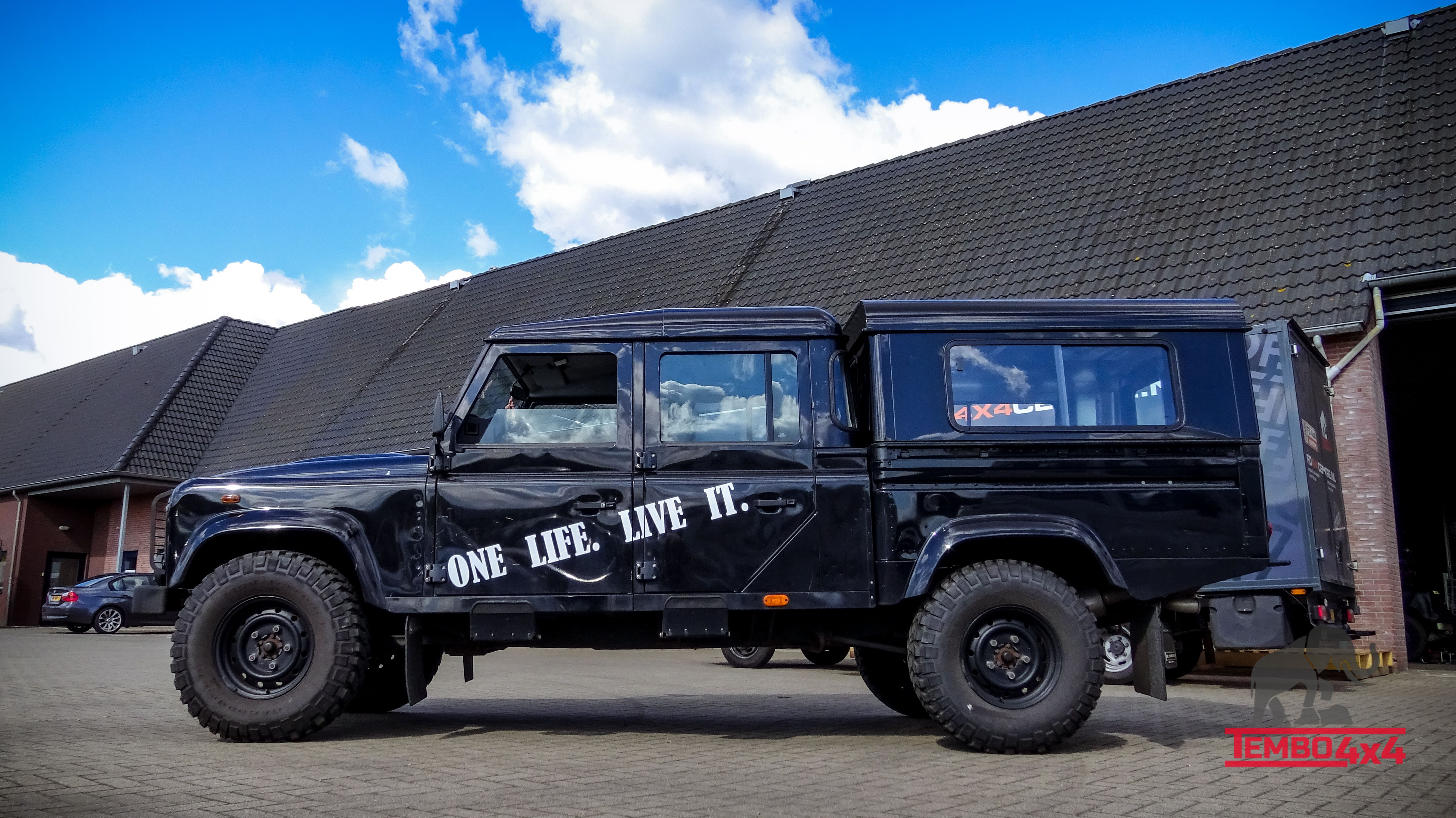 The Tembo 4x4 hardtop on a Land rover defender 130