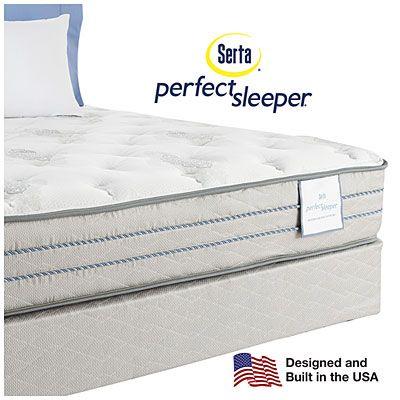 Serta Perfect Sleeper Emerson Super Firm Queen Mattress Box Spring Set At
