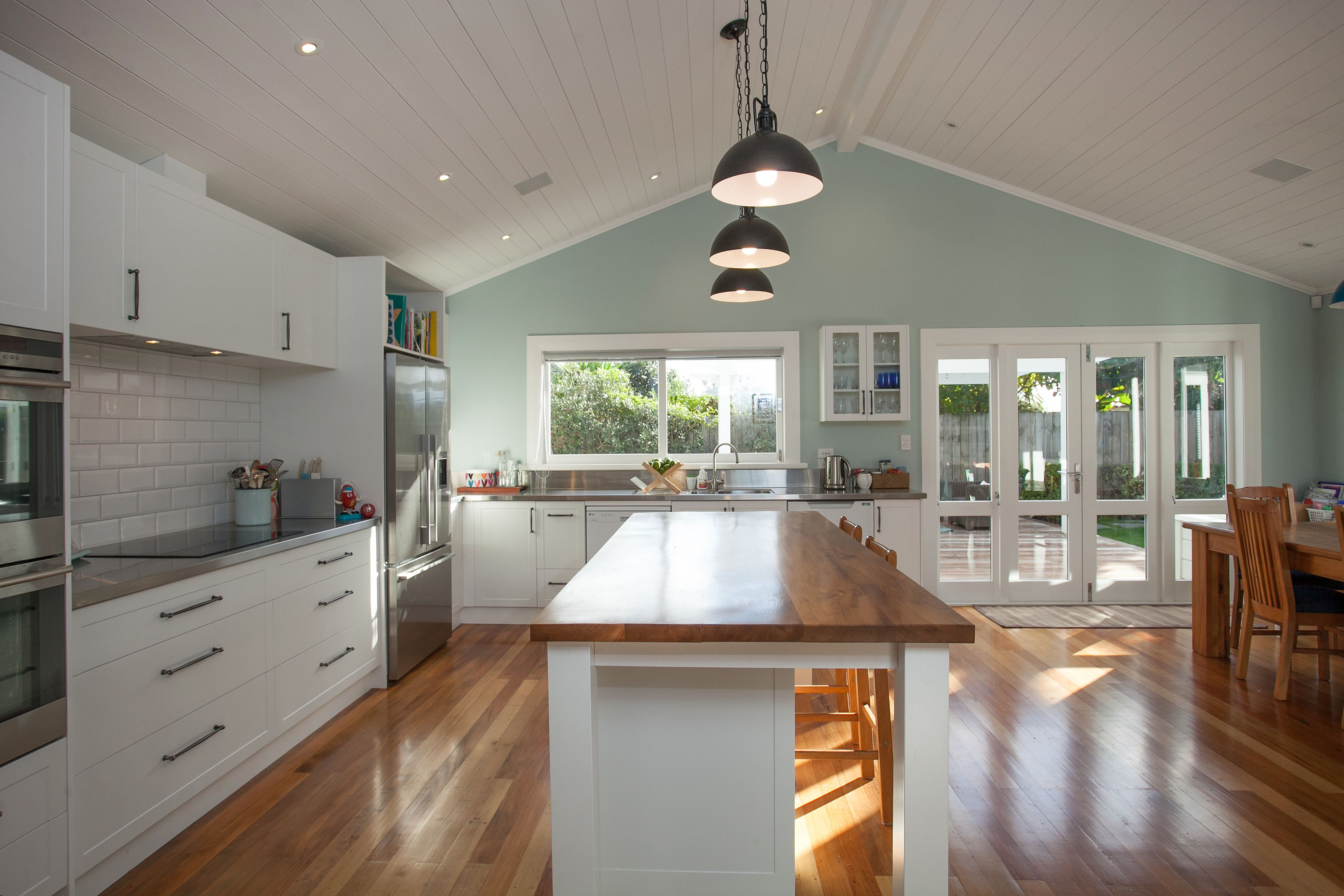 Native timber floors and kitchen island 1900's Villa