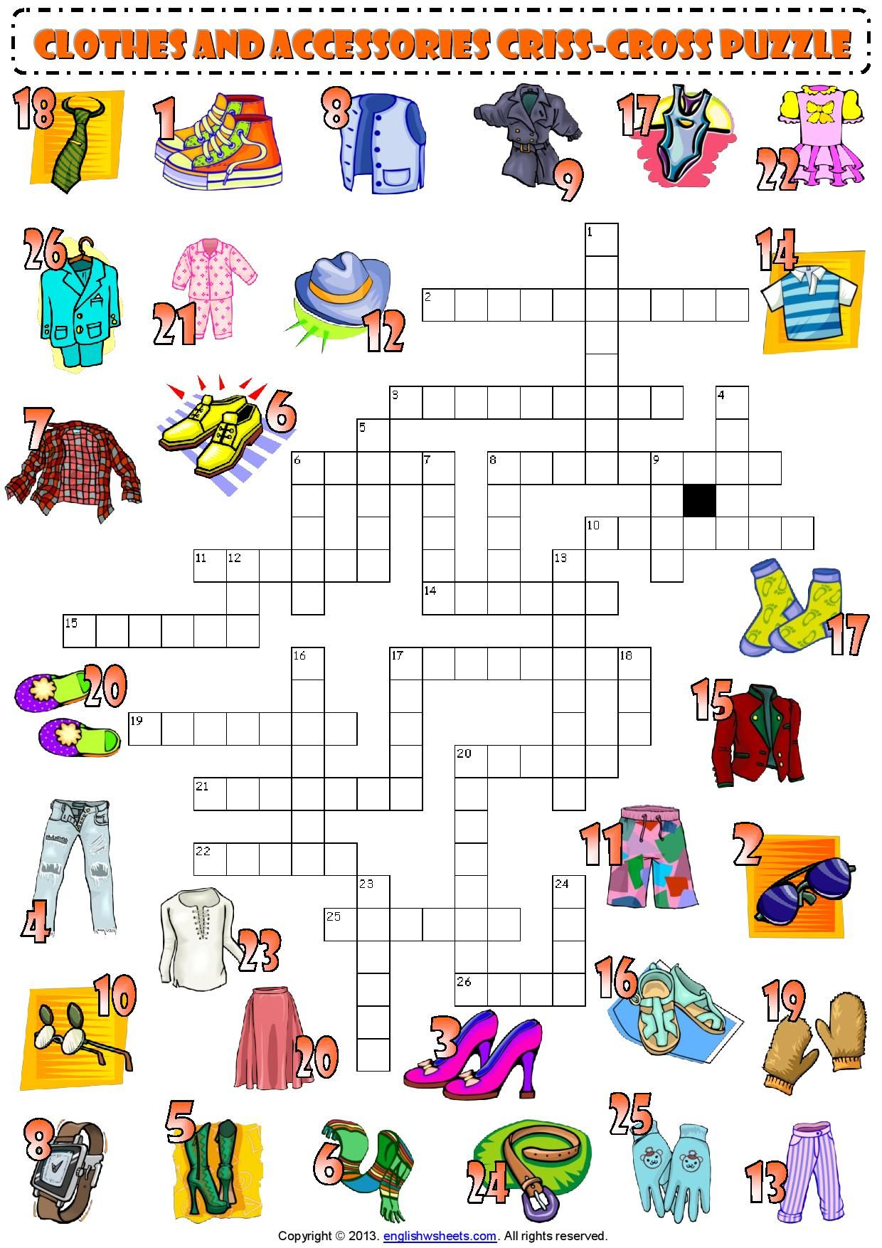 Crosswords For Learning English