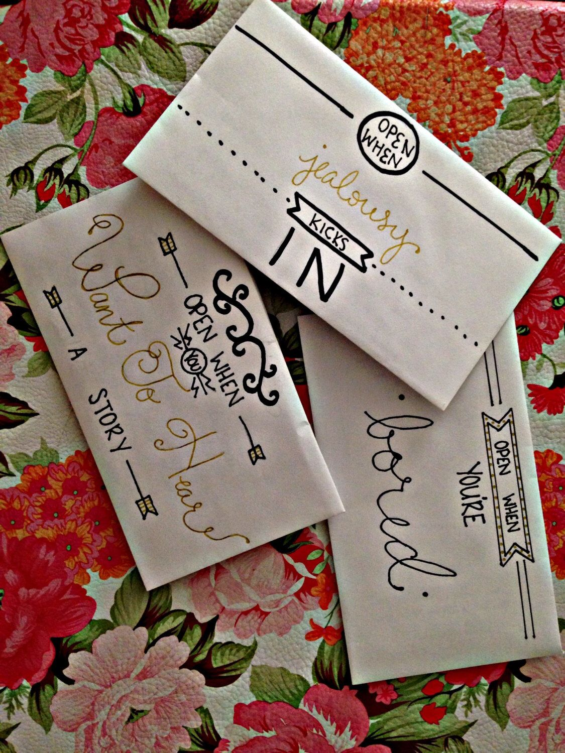 Open When Letters (great for anniversaries!) by
