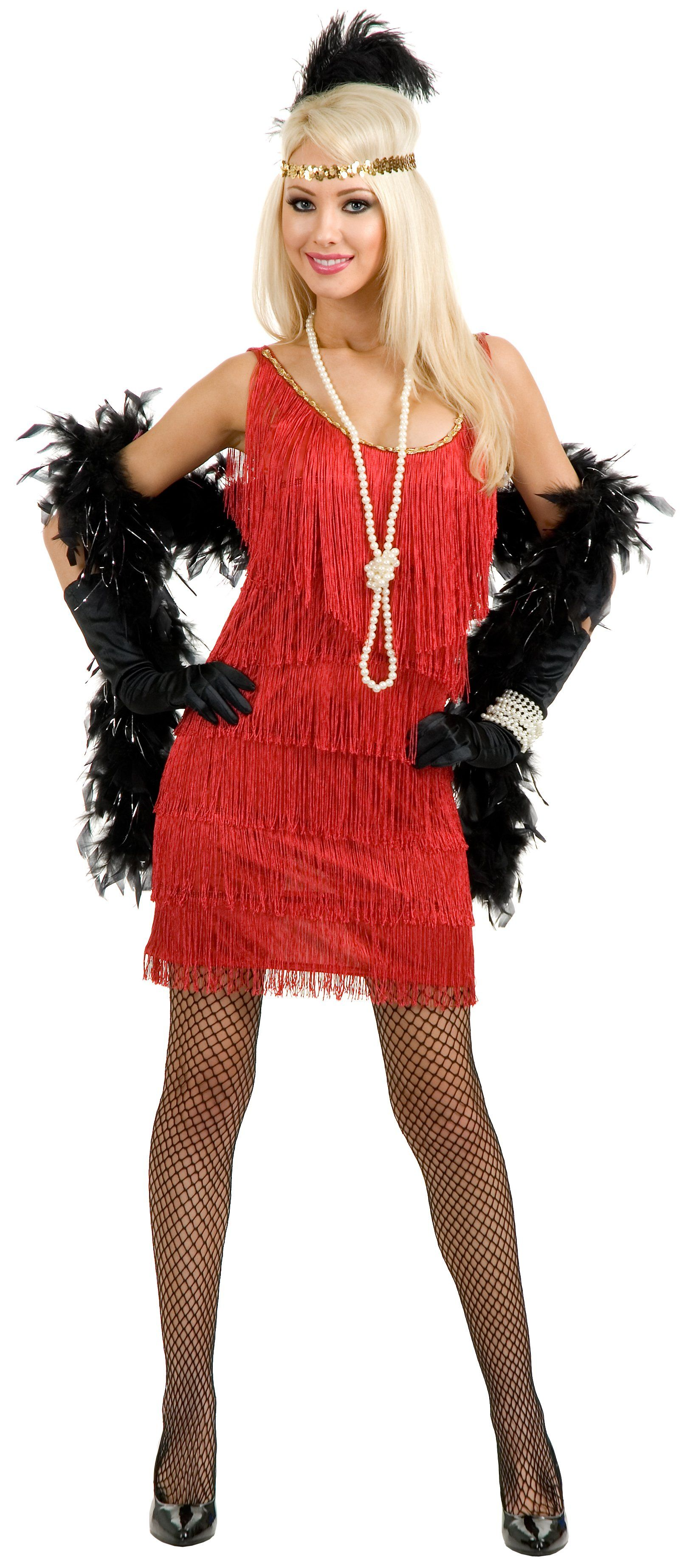 Fashion Flapper (Red) Adult Plus Costume Flappers, Fancy