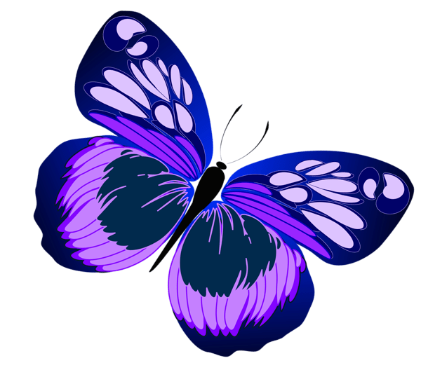 Blue and Purple Butterfly PNG Clipart Clip art
