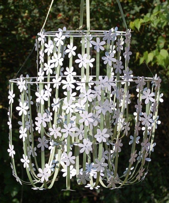 White Paper Flower Chandelier By Sugarandestudios On Etsy