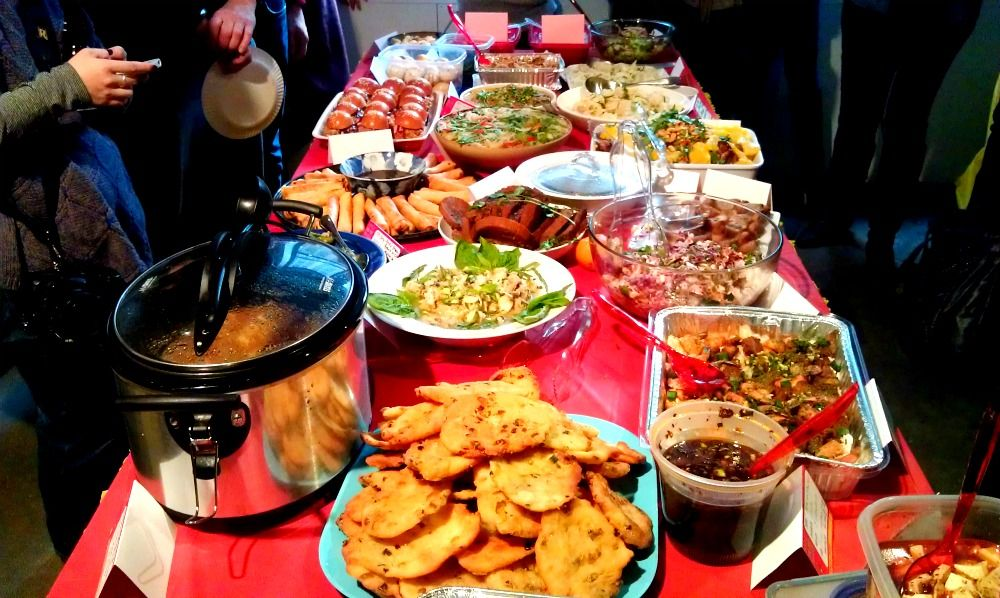 Chinese New Year Potluck Potlucks, Pot luck and Dishes