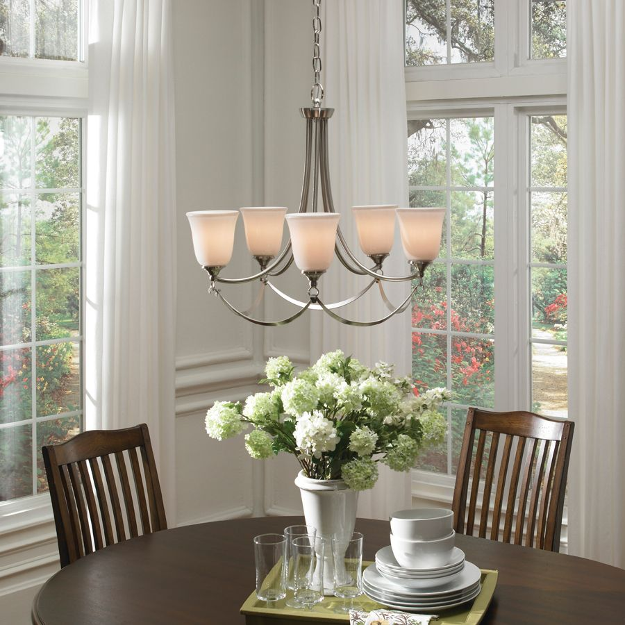 Shop allen + roth Winnsboro 5Light Brushed Nickel