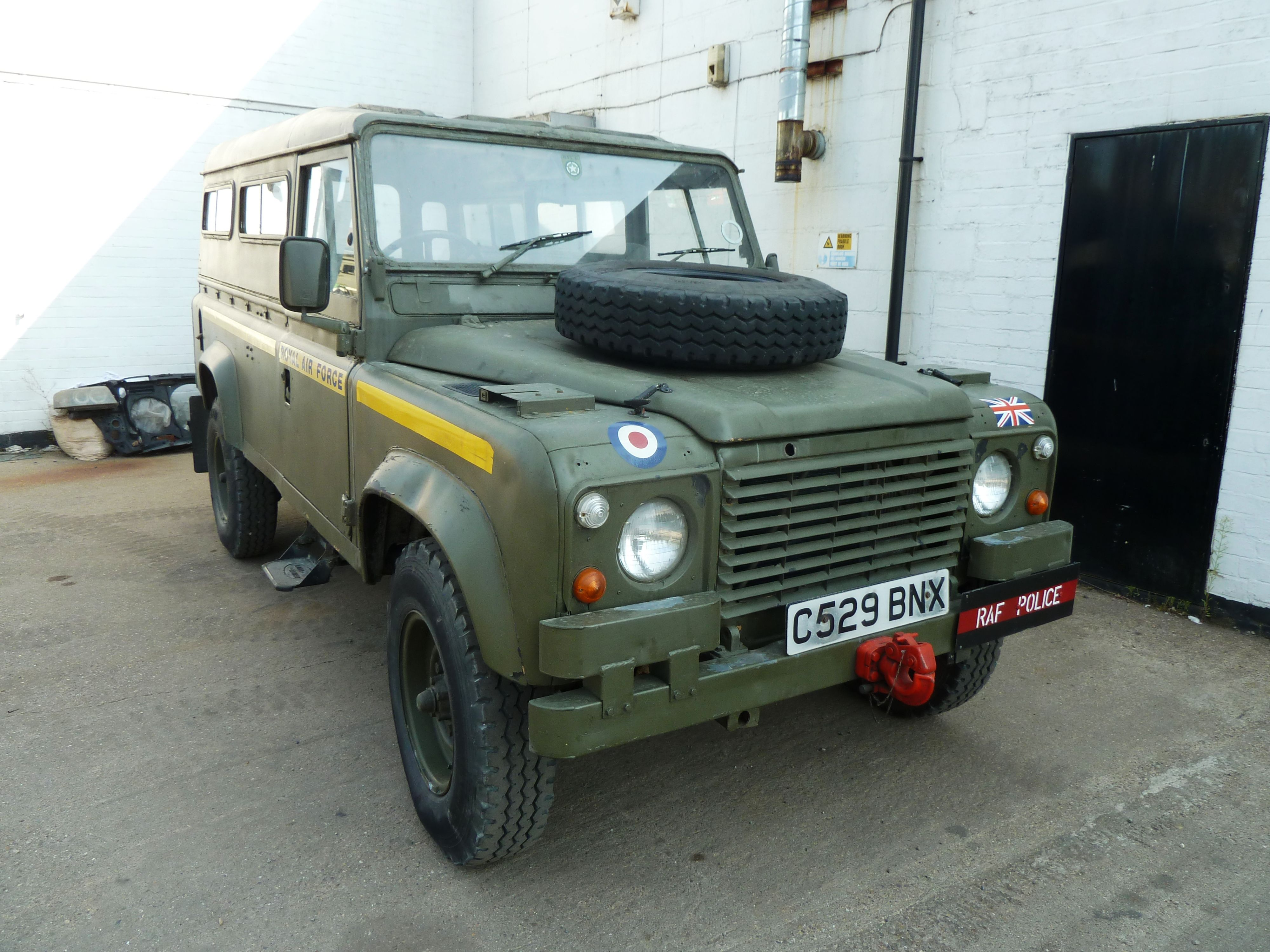 Ex RAF Land Rover 110 David Crouch Military Sales