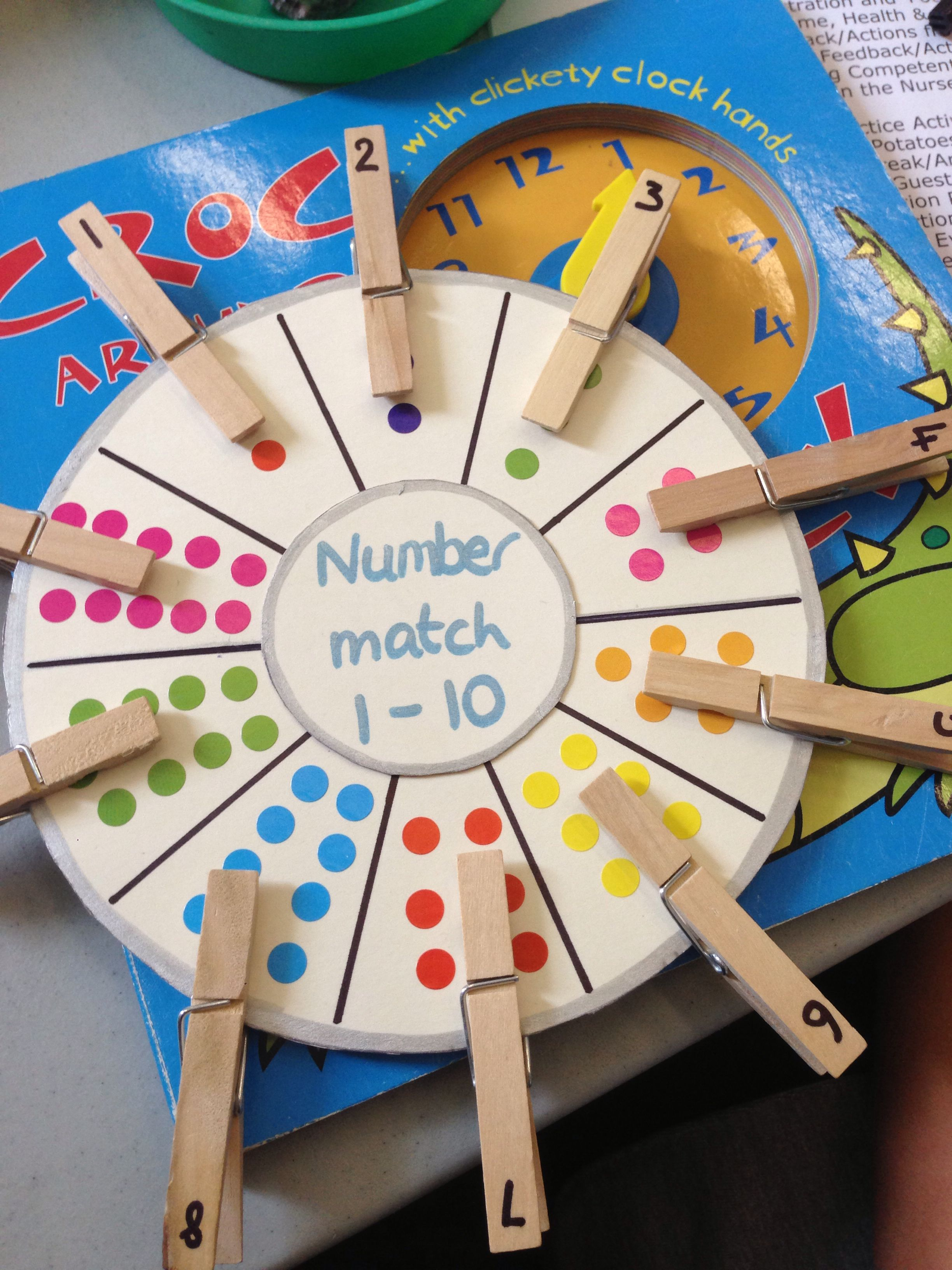 Image Only Number Matching Wheel Using Clothespins And Stickers Pinned By Super Simple Songs