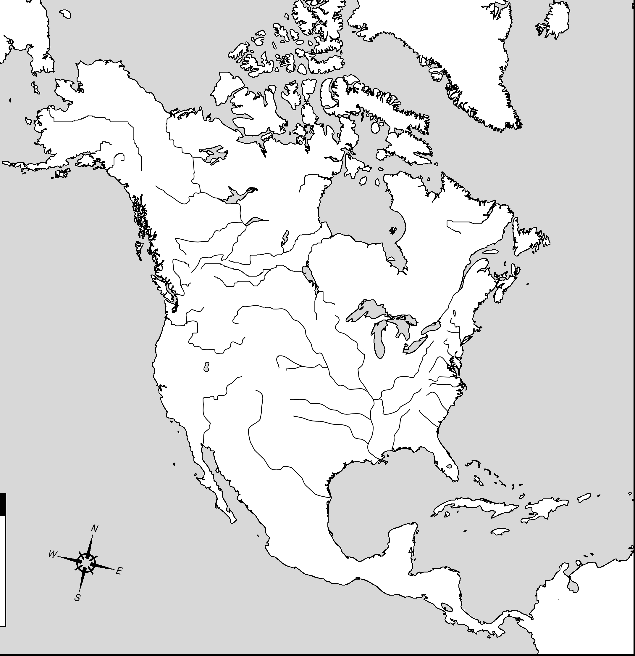 blank north america map Google Search Teaching