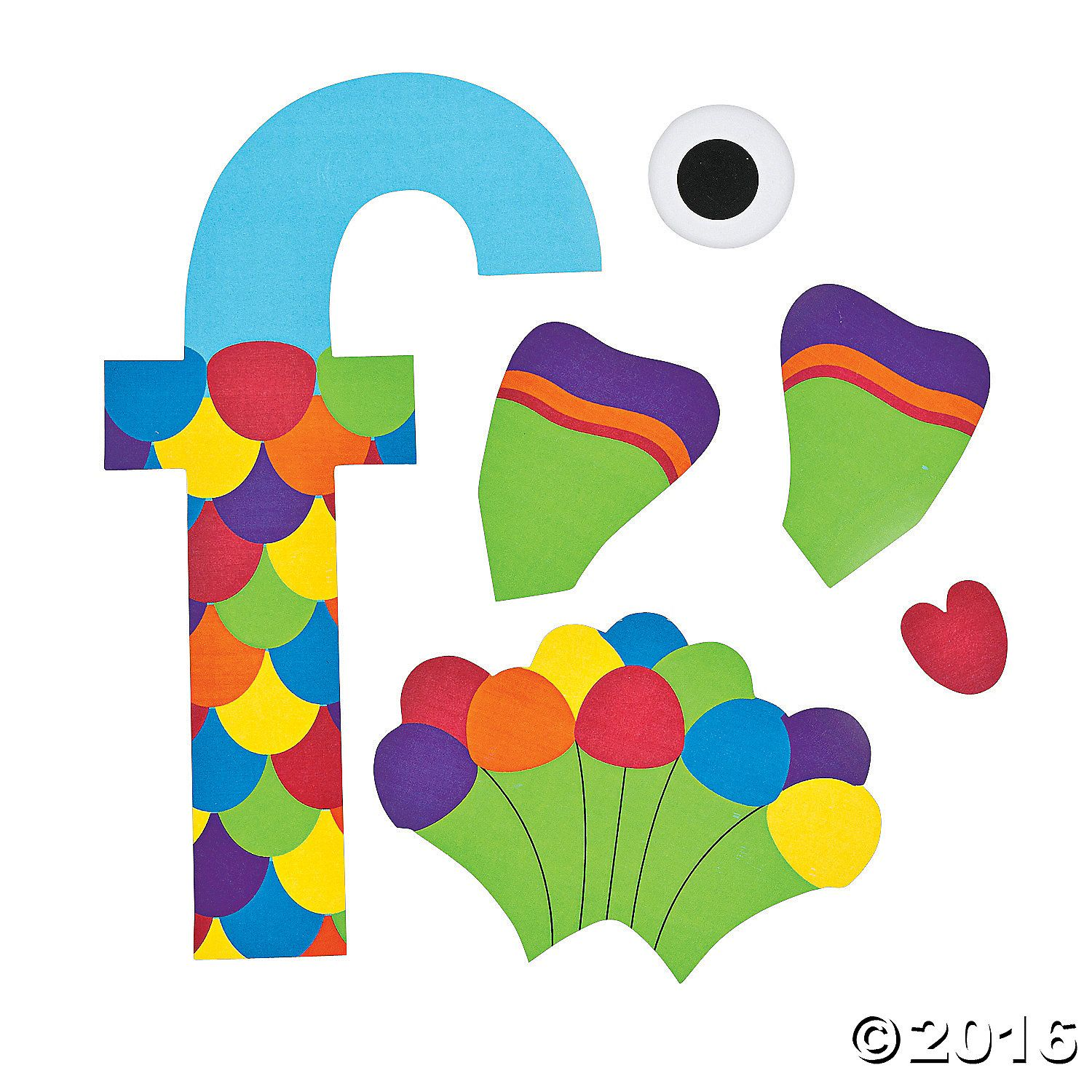 F Is For Fish Letter F Craft Kit A01