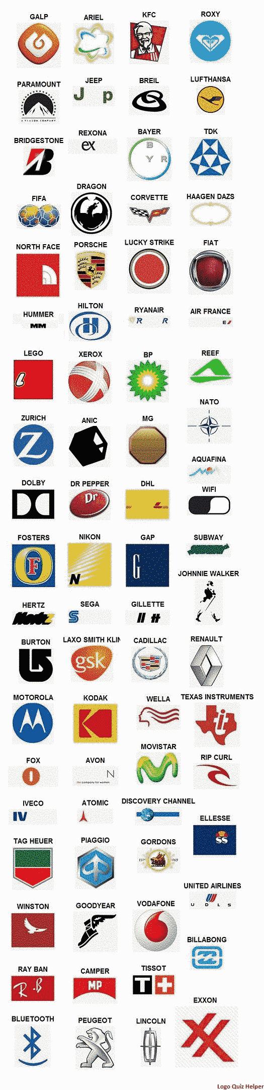 logo quiz answers level 4 Logo quiz respuestas