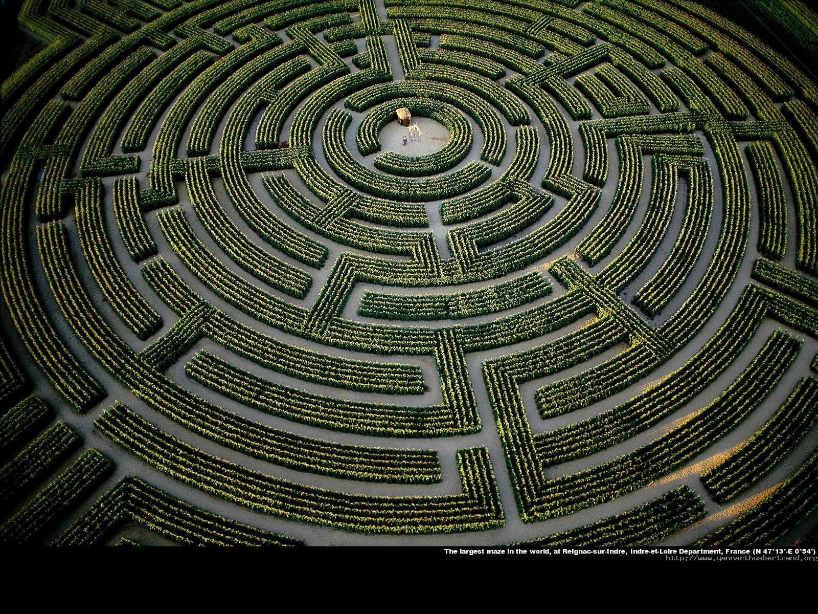Once One Of The World S Largest Plant Mazes This Circular