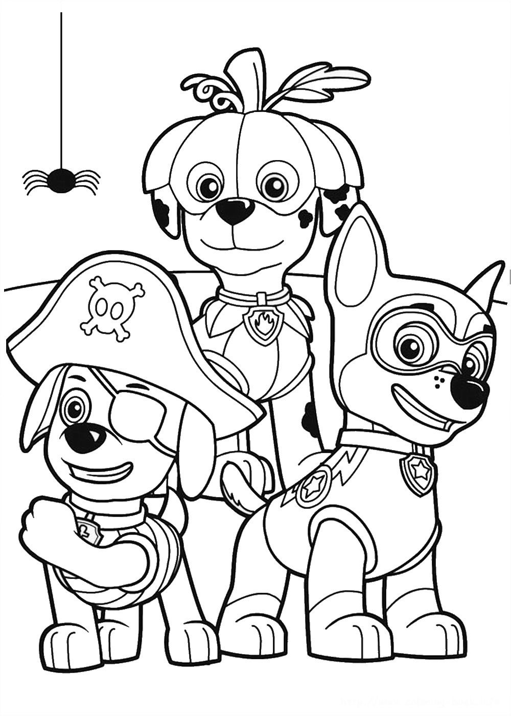 paw_patrol_coloring_page_21 Halloween Pinterest Paw